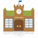 building, government, house, public, townhall icon