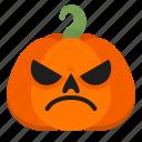 bad, creepy, emoji, halloween, horror, pumpkin, scary icon