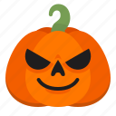 crazy, creepy, emoji, halloween, horror, pumpkin, scary icon