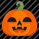 emoji, halloween, happy, horror, monster, pumpkin, scary icon