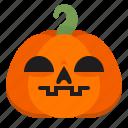 creepy, emoji, halloween, horror, pumpkin, scary, serious icon