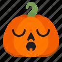 emoji, ghost, halloween, horror, pumpkin, scary, sleep