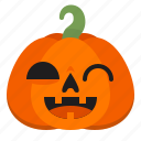 evil, halloween, horror, monster, pumpkin, scary, wink