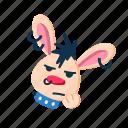animal, bored, character, face, pet, punk, rabbit icon