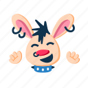 cute, fun, happy, laugh, punk, rabbit, smile icon