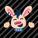 cute, fun, happy, laugh, punk, rabbit, smile icon