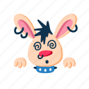 characer, face, hypno, hypnotized, pet, punk, rabbit icon
