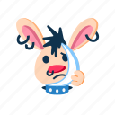 character, ill, pain, punk, rabbit, sad, teeth icon