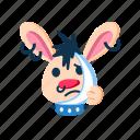 character, ill, pain, punk, rabbit, sad, teeth icon