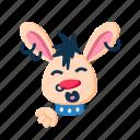 animal, character, kiss blowing, lips, pet, punk, rabbit icon