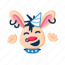 animal, fun, happy, laugh, party, punk, rabbit icon