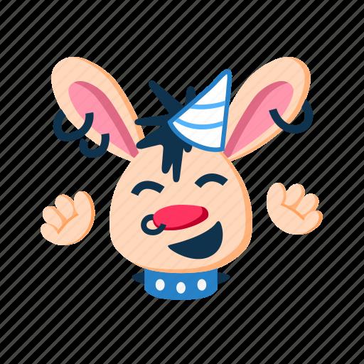 animal, fun, happy, laugh, party, punk, rabbit icon