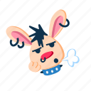 bored, had, hold, paw, punk, rabbit, sigh icon