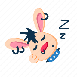 character, cute, lay, pet, punk, rabbit, sleep icon