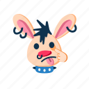 animal, face, making faces, punk, rabbit, tease, teasing icon
