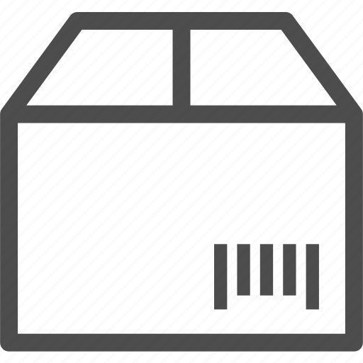 barcode, box, delivery, sent, supplies, tracking icon