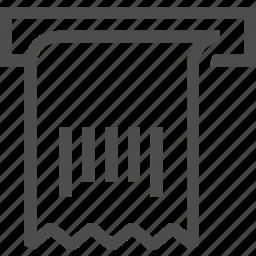 barcode, bill, code, print, receive icon