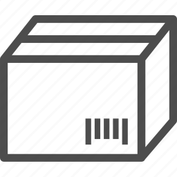 barcode, box, code, delivery, package, supplies, tracking icon