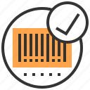 barcode, commerce and shopping, horizontal, price, products icon