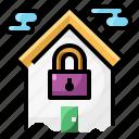 apartment, home, house, lockdown, padlock, quarantine, secutiry