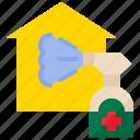 alcohol spray, clean, cleaning, housekeeping, hygiene, quarantine, spray icon