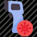 covid, covid-19, heat, medical, quarantine, temperature, thermometer icon