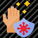 covid, hand, hand wash, protect, protection, quarantine, washing icon