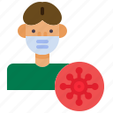 covid, covid-19, mask, protect, protection, quarantine, safety icon