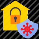 covid, covid-19, protect, protection, quarantine, safety, shield icon
