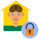 covid, covid-19, protect, protection, quarantine, shield, stay home icon