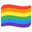 flag, gay, lgbt, lgbtq, pride, queer, rainbow icon