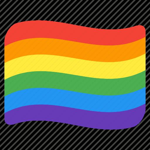 flag, gay, lgbt, lgbtq, pride, queer, rainbow icon