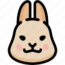emoji, emotion, expression, face, feeling, grinning, rabbit icon