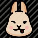 emoji, emotion, expression, face, feeling, naughty, rabbit