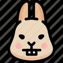 emoji, emotion, expression, face, feeling, nerd, rabbit