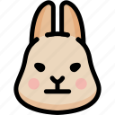 emoji, emotion, expression, face, feeling, neutral, rabbit