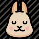 emoji, emotion, expression, face, feeling, peace, rabbit icon