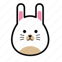emoticon, face, rabbit, animal, emoticons, expression, smiley