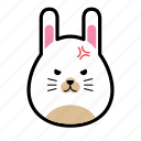 animal, emoticon, emoticons, expression, face, rabbit, smiley icon