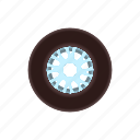 auto, car, cartoon, racing, rubber, tire, wheel icon