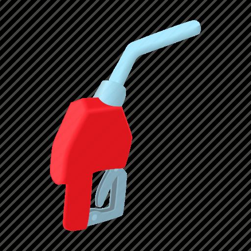 cartoon, gas, gasoline, gun, oil, pump, refueling icon