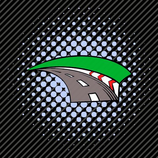 comics, fast, formula, race, road, speed, track icon