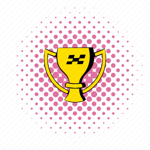 comics, cup, golden, sport, trophy, victory, winner icon