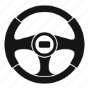 car, circle, control, race, steering, vehicle, wheel icon