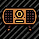 electronics, radio, technology, transistor icon