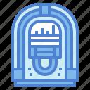 antique, jukebox, music, radio icon