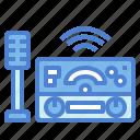 communication, equipment, radio, technology, transistor icon