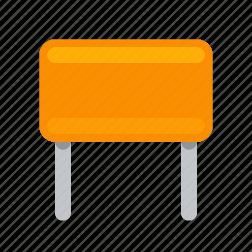 capacitor, condenser, detail, orange, radio icon