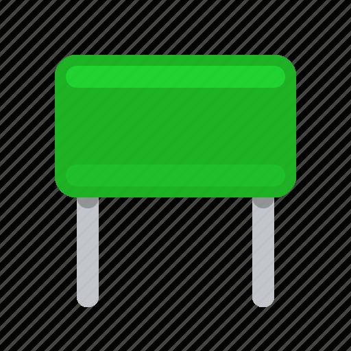 capacitor, component, condenser, detail, green, radio icon