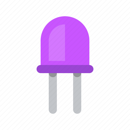 lamp, light-emitting diode, luminodiode, radio icon